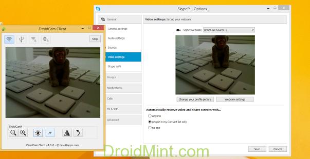 DroidCamX Wireless Webcam Pro v6.2